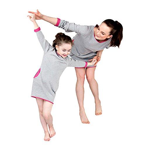 (Oyedens Mama und Tochter T Shirt, Sommer Matching Outfits Sportshirt Kurzarmshirt Langarmshirt Camisole Bluse Damen Tunikashirts Sommerbluse Mädchen Jungen)