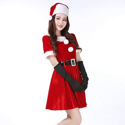 Yunfeng weihnachtsmann kostüm Damen Weihnachten Nachtclub Spice Girls ausführende Anzug DS Kostüm einheitliche Partei verbunden Bühne Anzug Kostüm Erwachsene Weihnachtsfeier Cosplay Kostüm