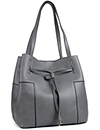 Tote Handbags By EaseGave, Leather Handbags Tote Bag For Women With Drawstring
