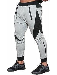 f7bac95914 FLYFIREFLY Pantalones De Jogging Para hombres - Chándal De Fitness Con Bolsillo  Delantero Y Trasero Deportivo