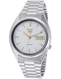 Seiko SNXG47K - Reloj para hombres, correa de acero inoxidable color plateado