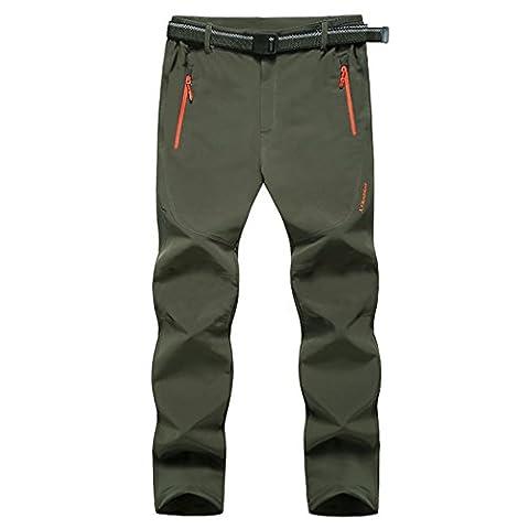 Walk-Leader Pantalon respirant de randonnée pour homme Extérieur Anti-UV À séchage rapide - vert - Medium