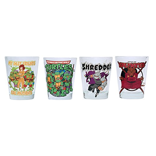 SG7 Nickelodeon Teenage Mutant Ninja Turtles Friends and Villains Mini-Glas-Set, 4 Stück ()