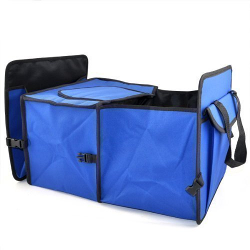 Preisvergleich Produktbild TRIXES 2 in 1 Kofferraum-Organisator Einkaufsbox,  hochstrapazierfähiger faltbarer Aufbewahrungsbehälter