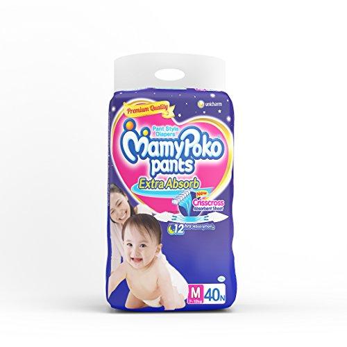 Mamy Poko Medium Size Baby Diapers (40 Count)