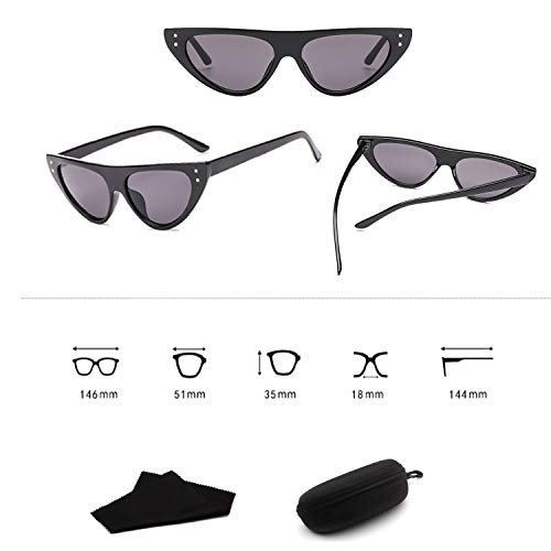 Yiph-Sunglass Sonnenbrillen Mode Cat Eye Clout Brille Sonnenbrille Vintage Mod Style Retro 3281 Zubehör (Color : Pattern)