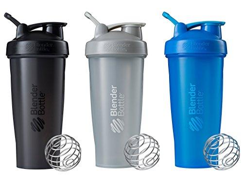BlenderBottle Classic Loop Top Shaker Flasche 3er Pack, blau/grau/schwarz, 28-ounce, Farben können abweichen
