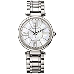Balmain Women's 34mm Steel Bracelet & Case Quartz MOP Dial Analog Watch B1671.33.82