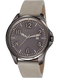 Esprit Tallac Brave Nubuck Men'Herren Quarzuhr mit Grau Dial Analog-Anzeige und Grau ES107601003 Lederband