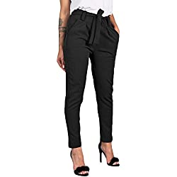 ITISME Jeanshosen Femmes Automne et Hiver Taille Élastique Pantalon Décontracté Taille Haute Jeans Casual Bleu Denim Pantalons (Small, Z Noir)