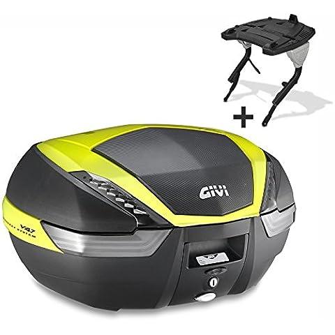 Top Case Set Kawasaki ER-5 Twister 98-00 Givi Monokey V47NNTFL nero / neon-giallo