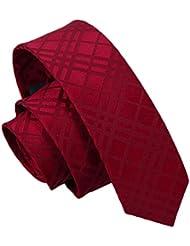 Cravate d'affaires étroites Cravate Cravates Homme - Vin rouge