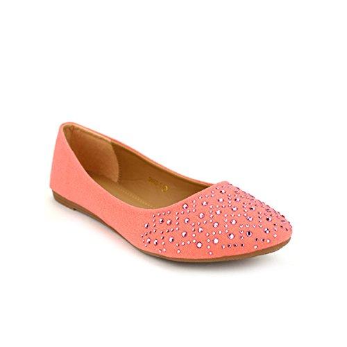 Cendriyon, Ballerine corail CINKS Chaussures Femme Corail