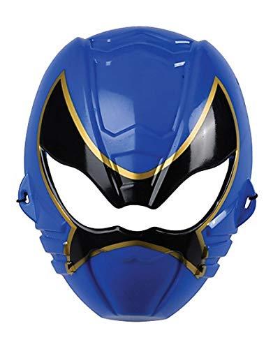 Kostüm Krieger Horror Kind - Horror-Shop Blaue Kinder Ninja Halbmaske für Fasching & Halloween