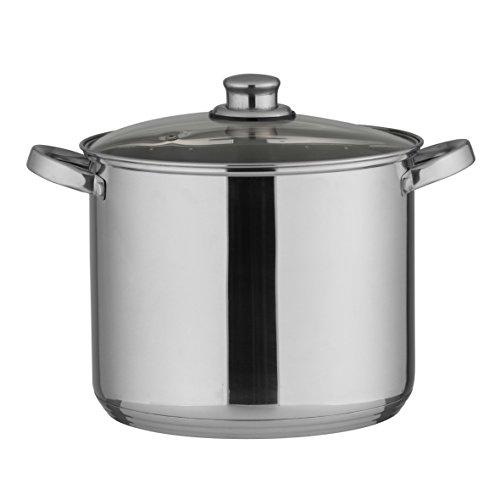 Kochtopf 10L Edelstahl - als Gulaschkessel, Suppentopf, Spargeltopf o. Soßentopf geeignet - praktischer Küchentopf für viele Herdarten auch Induktion