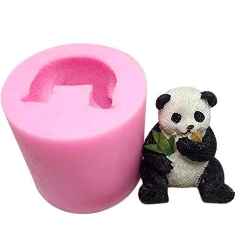 bitcircuit Stampo in Silicone Panda 3D - Stampo Sapone Silicone Fai da Te - Usato per Fare la Decorazione di Torta di Muffa Candela intonaco aromaterapia