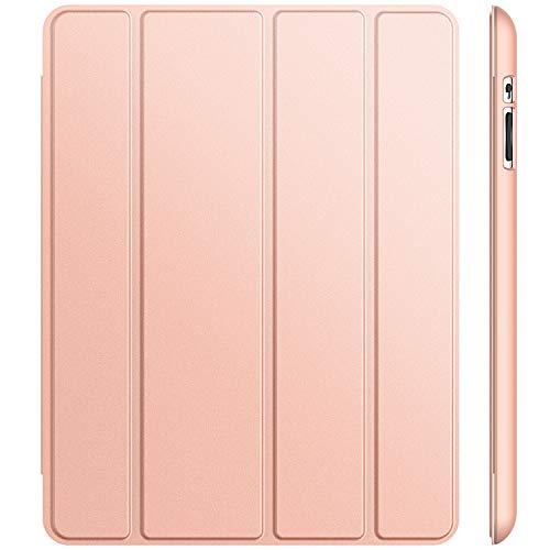 JETech Hülle für iPad 4, iPad 3 und iPad 2, Schutzhülle mit Ständer Funktion und Auto Schlaf/Wachen, Roségold (Generation Ipod Cover 4th)