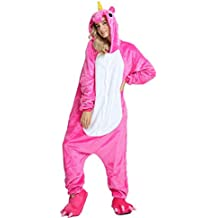 Missley Adulto Unisex Flanela Unicornio Cartoon Animal Novedad Halloween Pijama Cosplay