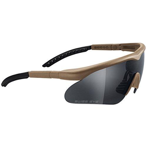 fec68c8c3194 Swiss Eye Ballistic Shooting Sunglasses Raptor 3 Lenses Coyote Frame