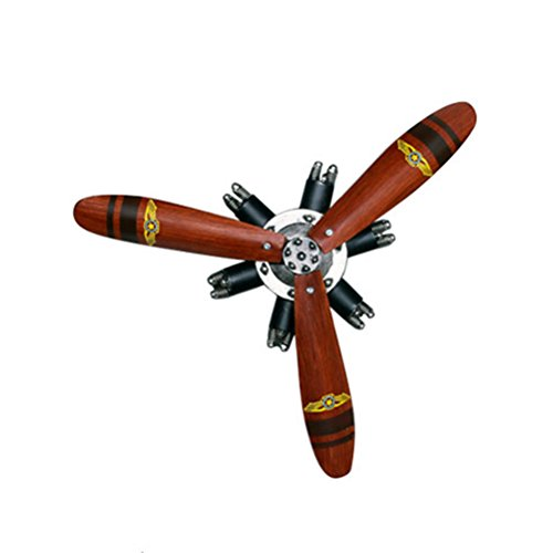 Accessories Health UK Home Pendant American Retro Iron Nostalgic Aircraft Propeller Crafts Wall Mounted Restaurant Bar Hanging Decoration Mural Welcome