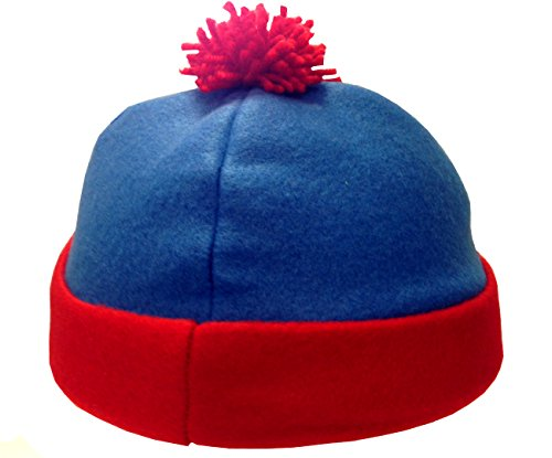 Stan Marsh South Park -Kostüm-Hut Blau Rot Fleece Ski Cap Comedy Central (South Park Kostüme Für Erwachsene)