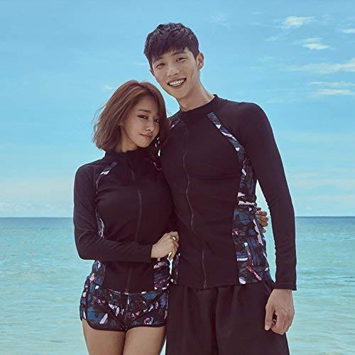 3 Kostüm Von Paare - Qiusa Paare DREI Stück Schwimmen tragen langärmelige konservative Video dünne Sport Sonnencreme Quallen Kostüm, männlich, zweiteilig, M (Farbe : Wie Gezeigt, Größe : Einheitsgröße)