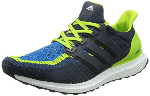 Adidas Ultra Boost, Zapatillas de Running para Hombre, (Semi Bluesemi Solar Slime/Night Navy/Shock Blue), 40 EU