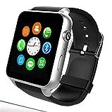 Smart Watch, SIM-Karte mit Pulsmesser Touchscreen Bluetooth für Android und IOS (Gold)