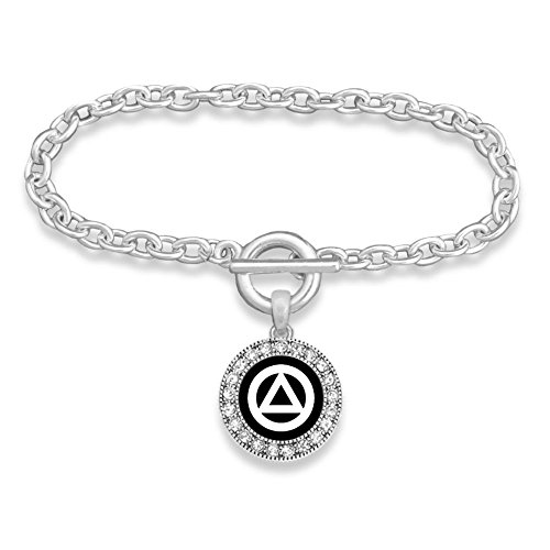 Lola Bella Gifts Damen Anonymen Alkoholiker Thema Toggle Armband mit Organza Beutel und Geschenkbox