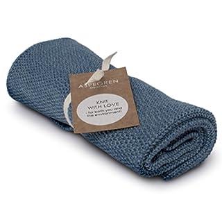 Aspegren Dänemark - gestricktes Handtuch - Blend Blue - Öko Tex