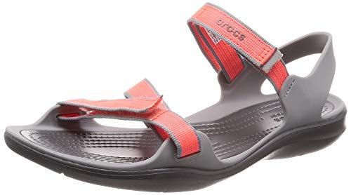crocs Damen W Swiftwater Webbing 204804 Sport Sandalen, orange 204804-6PK, 39/40 EU