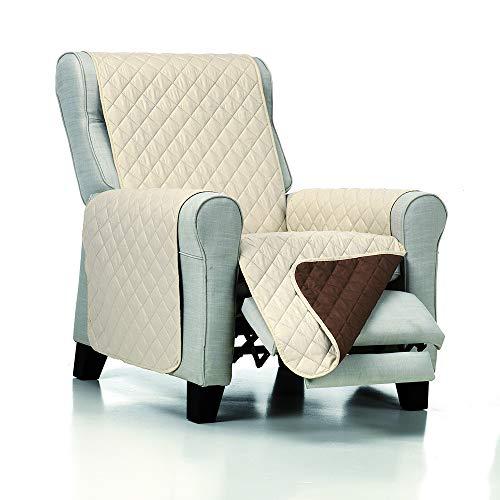 JM Textil Gefütterter Reversibler Sesselschoner Normal/Relax/Ohrensessel Alvin, 1 Sitzer (55 cm),...