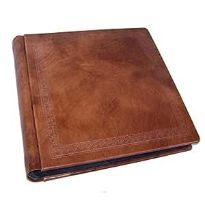 laifa album photo fait la main cuir avec valise feuilles noirs 35x35cm 60 feuilles. Black Bedroom Furniture Sets. Home Design Ideas