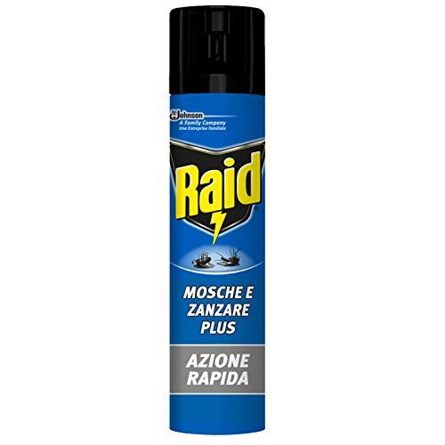RAID insetticida spray mosche zanzare e vespe azione rapida 400 ml