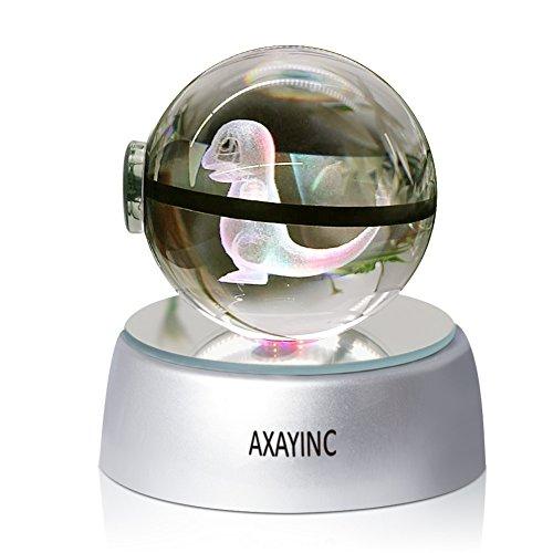 AXAYINC Lámpara nocturna LED 3D bola de cristal con soporte 7 cambio...