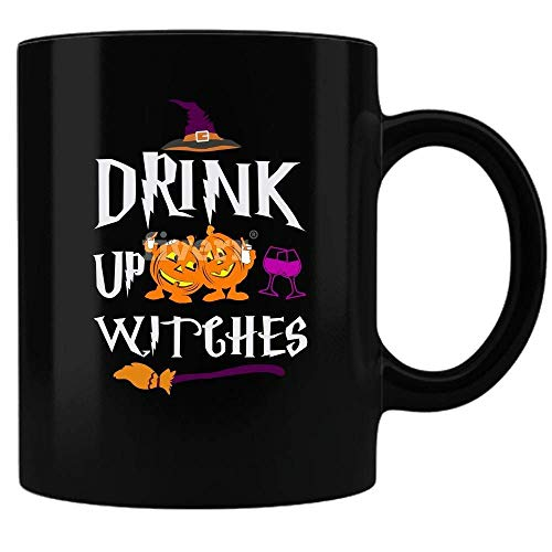 XIEXING Strong Stability Durable Spooky Halloween Coffee Kaffeebecher - Black - Perfect for The Morning After The Nite Before ()