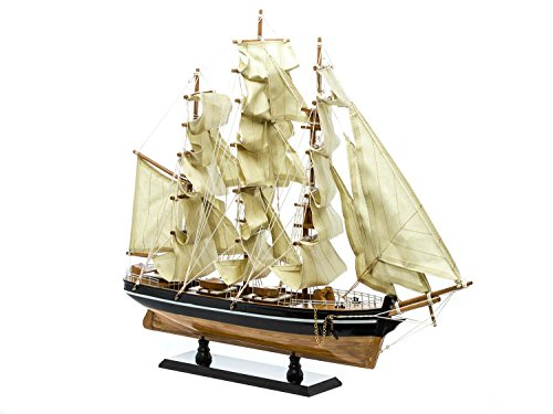 Modellschiff Cutty Sark Wollklipper Holz Schiffsmodell Schiff Segelschiff 54cm (Schiffs Modell Aus Holz)