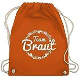 JGA Junggesellinnenabschied - Team Braut Blumenkranz - Unisize - Orange - WM110 - Turnbeutel & Gym Bag