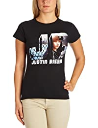 Justin Bieber Women's Photo Skinny Short Sleeve T-Shirt