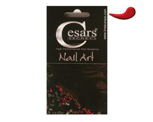 Cesars Nail Art Curve Tear Drops rouge