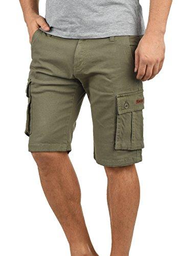 !Solid Laurus Herren Cargo Shorts Bermuda Kurze Hose Aus 100% Baumwolle Regular Fit, Größe:XXL, Farbe:Dusty Oliv (3784)