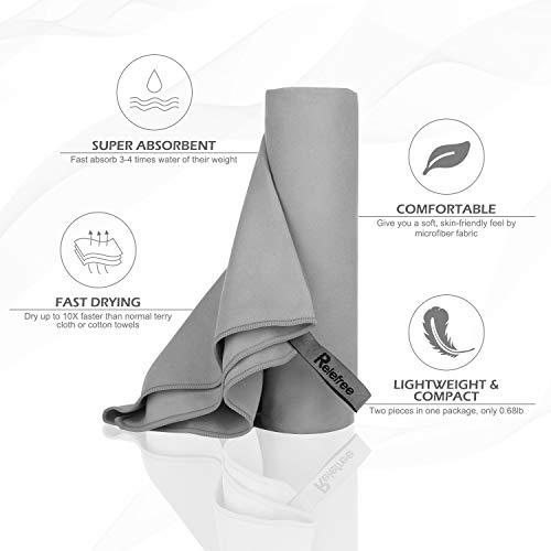Zoom IMG-2 relefree asciugamano in microfibra 2