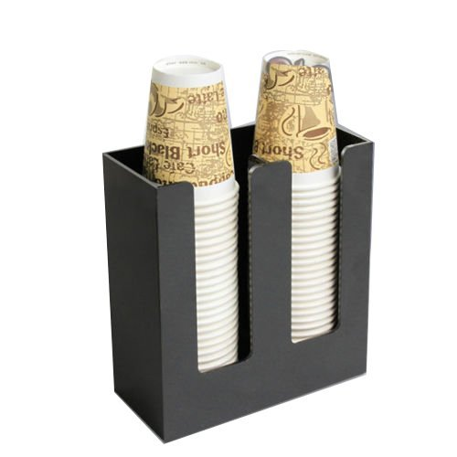 Earlywish Kaffeetasse und Deckel Halter Dispenser Organizer Caddy Kaffee Zähler Display 2sl