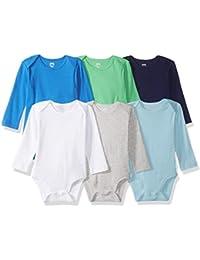 Amazon Essentials 6-Pack Long-Sleeve Bodysuit Unisex-Bimbi 0-24