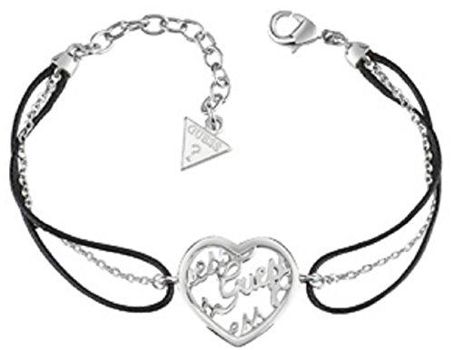 Guess Damen-Armband Mania Edelstahl Leder 20 cm-UBB61101-S