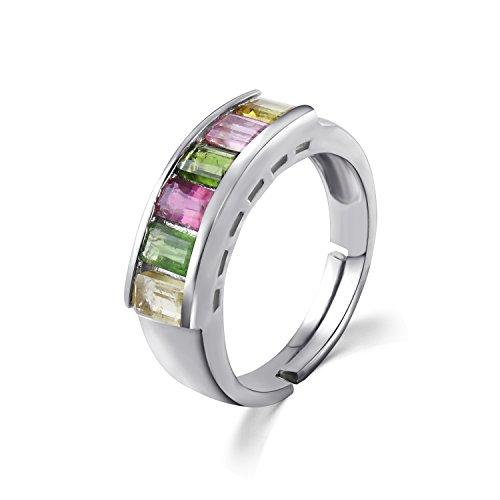 colorfey S925plata de ley anillos hecho a mano...