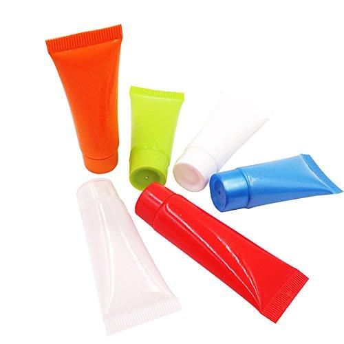 12 5 ml/10 ml leer nachfüllbar Kunststoff Behälter Travel Verpackung Probe Weiche Röhren Flasche Schutzhülle für Dusche GE Shampoo Gesichtsreinigung Emulsion