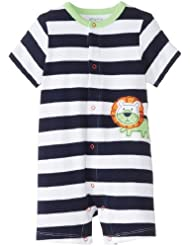 Camiseta de con mangas para bebé-e instrucciones para coser pijamas - con mangas para bebé de ropa con intercambiables para bebés recién nacidos diseño de león de POM para Mono corto, de la Armada británica de rayas en los bordes, 6 Meses de carcasas de: de rayas de la marina tamaño de la funda de pared con diseño a rayas: 6 MESES (con mangas para bebé/de mujer/diseño de palabra en inglés - de flores de Valentina Ramos ones)