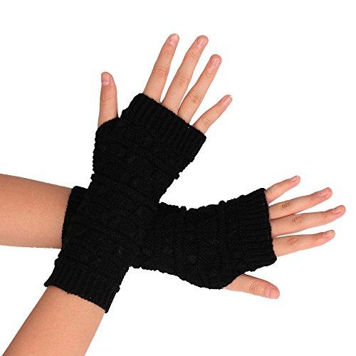 Ularma Brazo suave invierno guantes sin