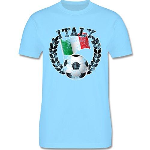 EM 2016 - Frankreich - Italy Flagge & Fußball Vintage - Herren Premium T-Shirt Hellblau